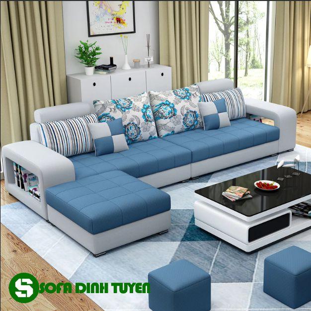 Khi cần chúng có thể biến thành sofa góc gọn nhẹ.