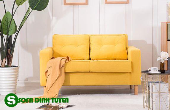 ghế sofa 2 chỗ màu vàng cam
