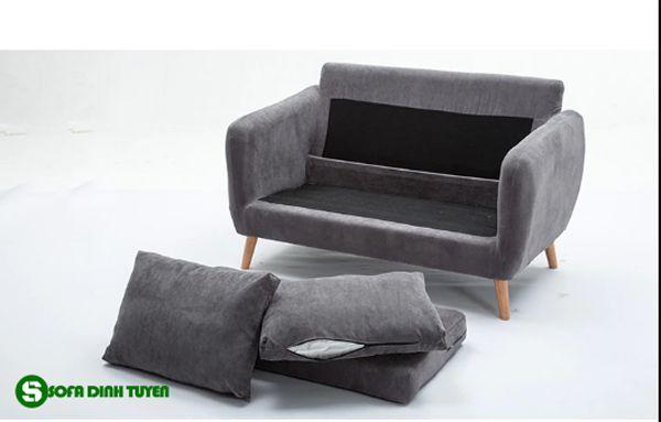 sofa vải có đệm và tựa dễ tháo rời hơn