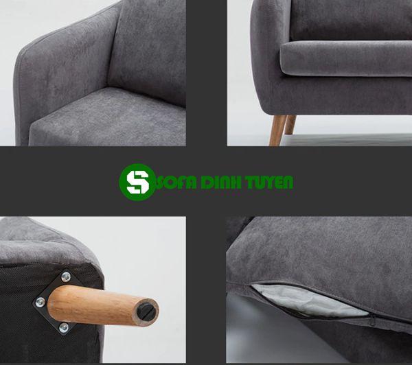 sofa chân gỗ dễ tháo rời