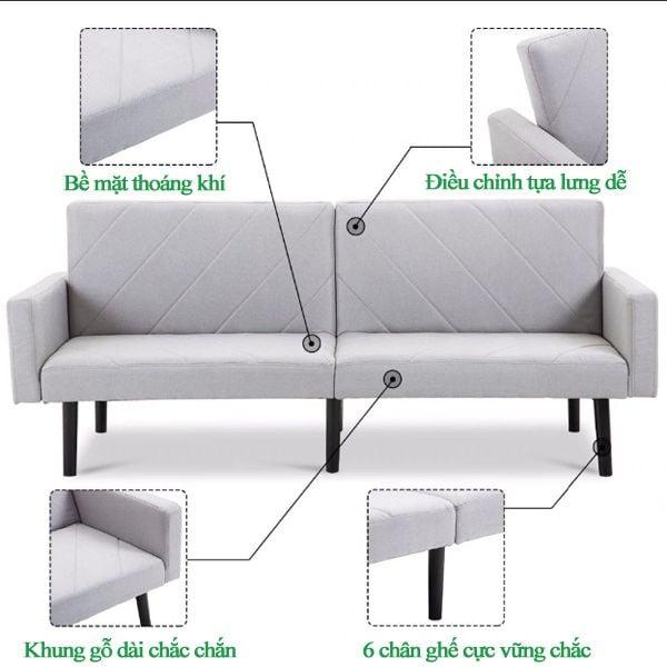 Hệ thống điều khiển tinh tế, thông minh mang tới mẫu sofa bed độ bền cao.