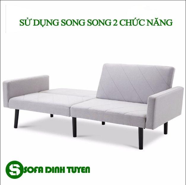 Sử dụng song song 2 chức năng giường và ghế sofa một cách dễ dàng.