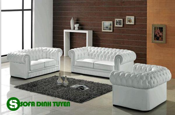 ghế sofa tân cổ điển màu trắng