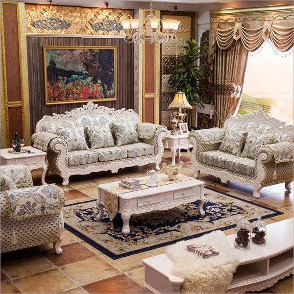 Bộ ghế sofa vải đẹp cao cấp ấn tượng phong cách hoàng gia quý tộc.