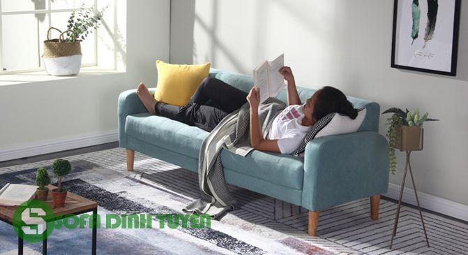 ghế sofa giường cho nhà nhỏ gọn
