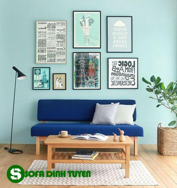 ghế sofa nhà nhỏ khung gỗ chắc chắn