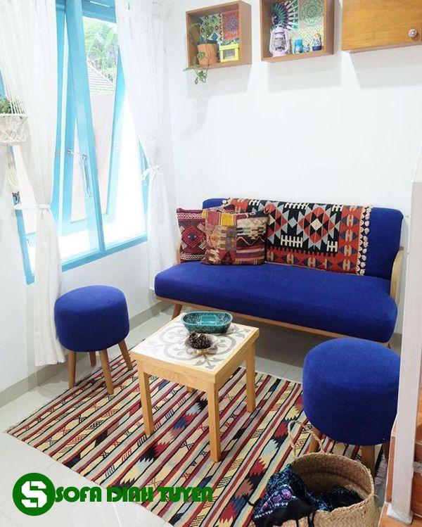 ghế sofa cho nhà nhỏ kèm đôn sofa