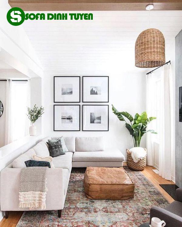 bộ ghế sofa cho nhà nhỏ dạng sofa góc