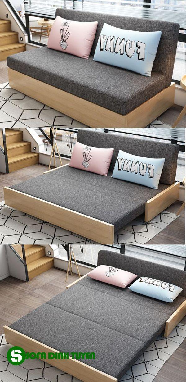 sofa cho nhà nhỏ dạng sofa kéo ra thành giường